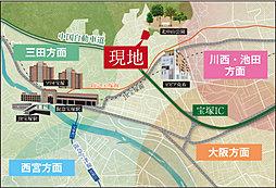 シエルセーヌ宝塚~ソレイユメフ~:交通図