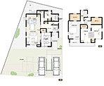 3号棟:敷地面積/227.04m2(68.67坪) 建物面積/117.40m2(35.43坪)