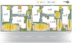 全邸165m2以上(全邸2台カースペース)のゆったりとした敷地計画とし、家族の温もりを優しく包み込む陽だまりや柔らかな風通りにも配慮することで各邸が個として成り立ちながら、街並みとして溶け込みます!