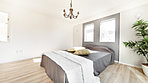 主寝室は上質で贅沢な空間を演出。心地よい癒しの時間へと導いてくれます。
