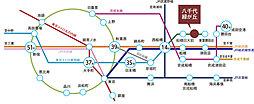 八千代市はぐみの杜 八千代緑が丘駅 徒歩14分 【木ここちタウンはぐみの杜94街区】:交通図