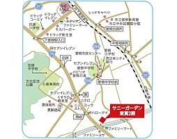 サニーガーデン東貫2期:案内図