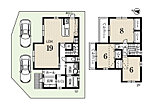 1号地 建物価格1738万円、土地面積122.25m2、建物面積 97.61m2、4LDK、駐車2台可能