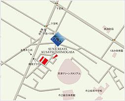 サンクリエート草津下笠:交通図