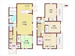 2号地:敷地面積約45.89坪!LDKと和室の続き間ゆったり約21.25帖!