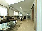 建築会社の建築例モデルハウス(室内)