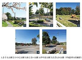 テーマをもった街区内に5つの公園