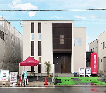 子育て世帯におススメ!便利な住環境!『タマタウン浜崎小学校前』で新しい暮らしをはじめませんか? (1号地・2号地・3号地 外観イメージパース)