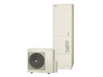 空気の熱でお湯を沸かす、節約上手な全自動給湯器エコキュート。特長は、時間をかけてゆっくりとお湯を沸かしていく点。昼間に比べて割安な深夜電力を利用することで、大幅なランニングコストの削減を実現できます。