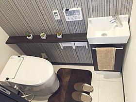 手洗いカウンターが標準装備(当社施行例)