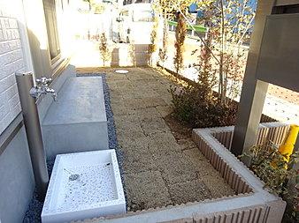 立水栓がお庭にございます