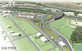 守山スマートインターチェンジ 2018年3月完成予定。