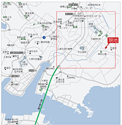 三浦市宮川町:交通図