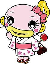 吉川市のイメージキャラクター『なまりん』がお出迎え!