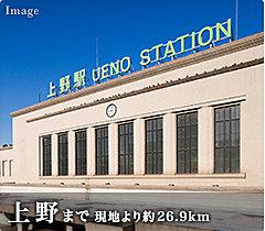 「上野」駅 23分