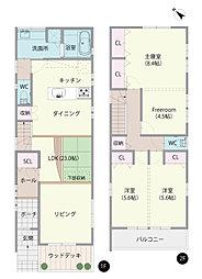 4580万円 4LDK 土地109.82m2 建物109.34m2 駐車場2台