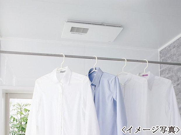 【浴室換気乾燥機】浴室乾燥機付きで、入浴後に湿気がこもりカビが発生することを抑制できます。