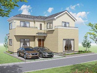 【外観の同施工写真】木造軸組工法の設計自由度と構造用合板パネル工法の耐震性の高さを合わせもったIDS工法で安心の家づくり