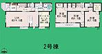 間取り 全居室南向き+収納スペース付き♪ 2号棟
