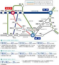 電車の路線図です。