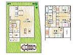 【7号棟モデルハウス】リビング広々23.8帖の3LDK!二階に洗面・浴室がありますので、毎日のお洗濯物もラクラクですね♪シューズインクロークやパントリー収納があり収納豊富!