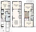 【B号棟】3280万円、3LDK+S、土地面積76.35m2、建物面積105.99m2
