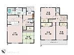 全居室ゆったりとした間取りに便利な収納スペースがあり、お部屋がスッキリ片付きます♪ (1号棟間取り図)