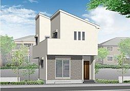(1号棟)完成予想図 スタイリッシュなデザインで自慢したくなるお家ですね♪