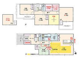 全居室南向き・4LDK・吹抜け&ロフト付プラン(T-2)