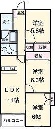 新川橋駅 7.8万円