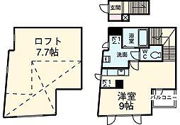 東京メトロ丸ノ内線 荻窪駅 徒歩4分の賃貸マンション 2階ワンルームの間取り