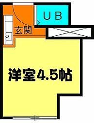 MAISON DAITO 2階ワンルームの間取り