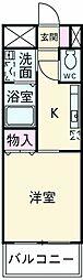 泉北高速鉄道 光明池駅 バス10分 桧山下車 徒歩3分の賃貸マンション 3階1Kの間取り