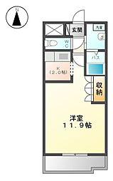 伊豆箱根鉄道駿豆線 修善寺駅 徒歩25分の賃貸アパート 1階1Kの間取り