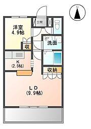 伊豆箱根鉄道駿豆線 修善寺駅 3.7kmの賃貸アパート 1階1LDKの間取り