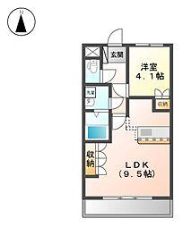 JR八高線 丹荘駅 徒歩19分の賃貸アパート 2階1LDKの間取り