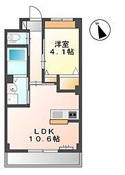 (仮称)桜木新築マンション 1階1LDKの間取り