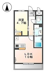 京急本線 梅屋敷駅 徒歩20分の賃貸マンション 2階1LDKの間取り