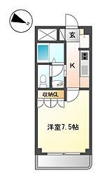 Osaka Metro今里筋線 瑞光四丁目駅 徒歩2分の賃貸マンション 3階1Kの間取り