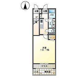 JR東海道本線 平塚駅 バス28分 大神下車 徒歩2分の賃貸アパート 1階1Kの間取り