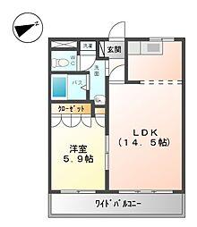 伊豆箱根鉄道駿豆線 大仁駅 徒歩12分の賃貸アパート 1階1LDKの間取り
