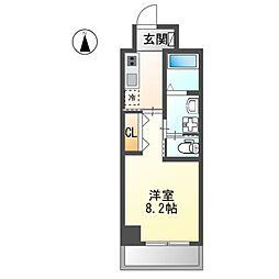 JR東海道本線 金山駅 徒歩5分の賃貸マンション 5階1Kの間取り