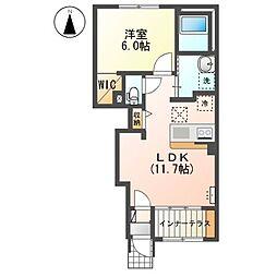 入間郡毛呂山町平山新築アパート(仮) 1階1LDKの間取り