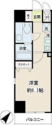 JR京浜東北・根岸線 新子安駅 徒歩5分の賃貸マンション 5階1Kの間取り