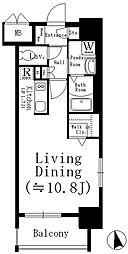 名古屋市営鶴舞線 大須観音駅 徒歩8分の賃貸マンション 5階1Kの間取り