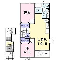天竜浜名湖鉄道 二俣本町駅 バス15分 光明山口下車 徒歩23分の賃貸アパート 2階2LDKの間取り