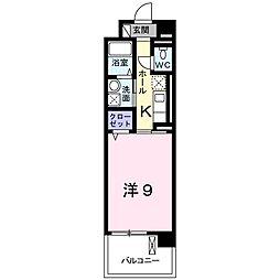 JR東海道本線 豊橋駅 バス11分 元下地下車 徒歩9分の賃貸マンション 3階1Kの間取り