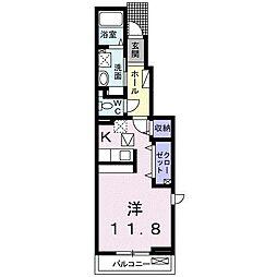 JR武豊線 半田駅 徒歩23分の賃貸アパート 1階1Kの間取り