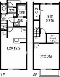 (仮)愛知県西尾市寺部町MP 1階2LDKの間取り