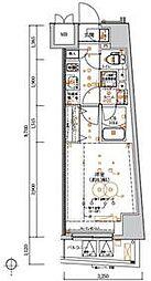 東京メトロ丸ノ内線 中野坂上駅 徒歩5分の賃貸マンション 10階ワンルームの間取り
